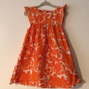 Happy Pink Chicken orange floral dress